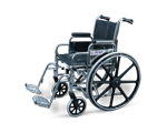 Fauteuil roulant avec appuis-bras et repose-pieds pivotants- 45-7 cm (18 po)