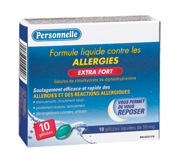 Image of product Personnelle - Allergy Liquid Capsule 50 mg - Nighttime, 10 units, Extra Strength