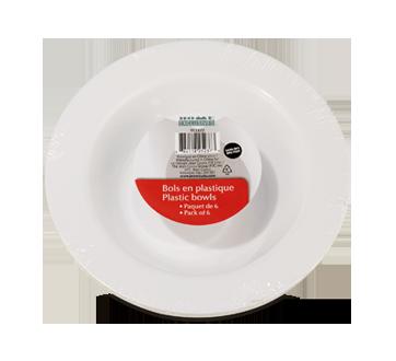 Plastic Bowls, 6 units, 7 inches