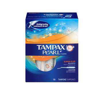 Image 3 of product Tampax - Pearl Super Plus Tampons Unscented, 18 units