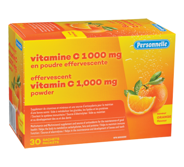 Image of product Personnelle - Effervescent Vitamin C 1,000 mg Powder, 30 units, Orange