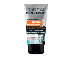 Image of product L'Oréal Paris - Hydra Energetic Face and 3-Day Beards Cleanser, 150 ml