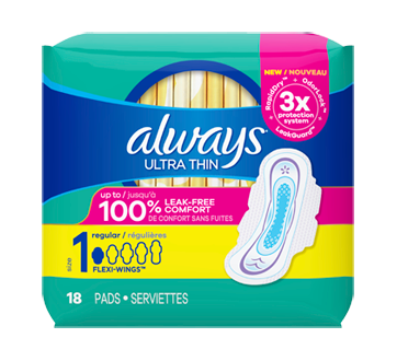 Ultra Thin Pads, 18 units