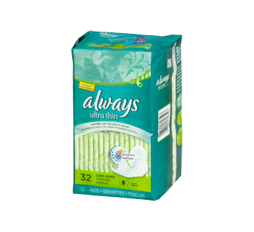 Image 2 of product Always - Ultra Thin Pads With Wings, Size 2, Unscented, 32 units, Super