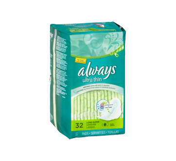 Image 3 of product Always - Ultra Thin Pads With Wings, Size 2, Unscented, 32 units, Super