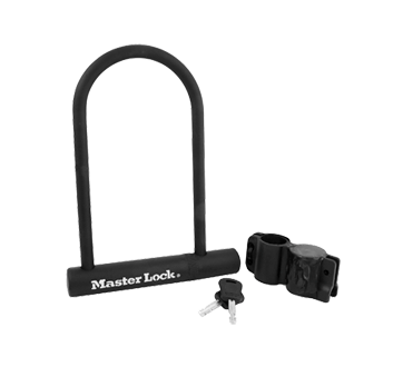 U-Lock with key, 1 unit, Black