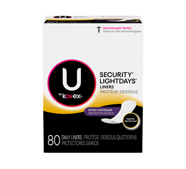 Kotex Lightdays Liners Long With Extra Coverage Double Pack