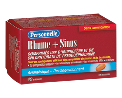 Image of product Personnelle - Cold + Sinus, 40 caplets