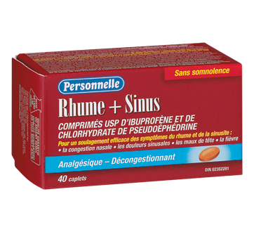Image of product Personnelle - Cold & Sinus Ibuprofen Tablets, 40 units