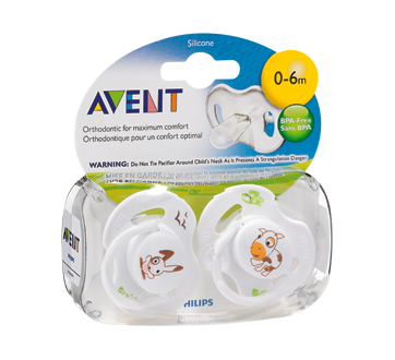 BPA Free Orthodontic Pacifiers, 2 units