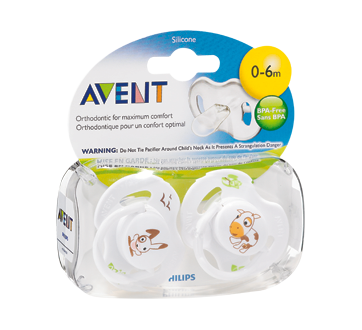 Image 2 of product Avent - BPA Free Orthodontic Pacifiers, 2 units