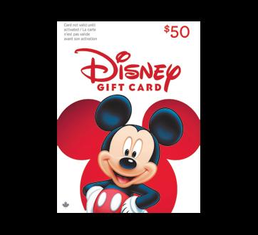 $50 Disney Gift Card, 1 unit