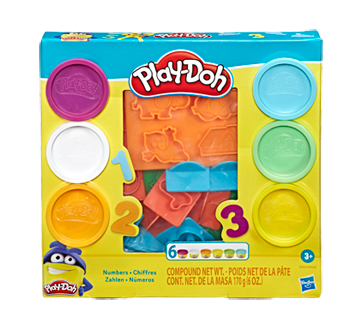 Play-Doh Number Stampers Tool Set with 6 Non-Toxic Colors, 1 unit