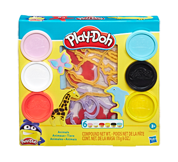 Play-Doh Animals Tool Set with 6 Non-Toxic Colors, 1 unit