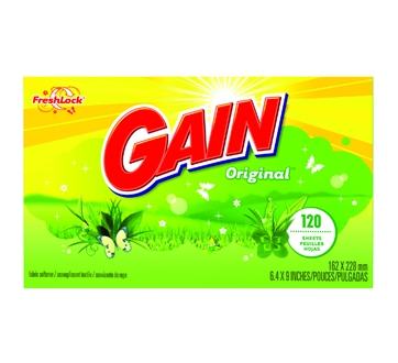 Image 2 of product Gain - Dryer Sheets with FreshLock, 120 Sheets, Original