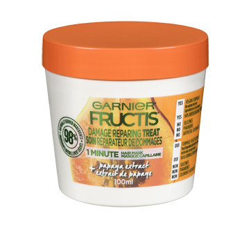 Fructis Damage Repairing Treat Hair Mask, 100 ml, Papaya
