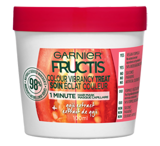 Fructis Colour Vibrancy Treat Hair Mask, 100 ml, Goji