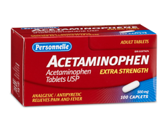 Image of product Personnelle - Acetaminophen 500 mg, 100 tablets