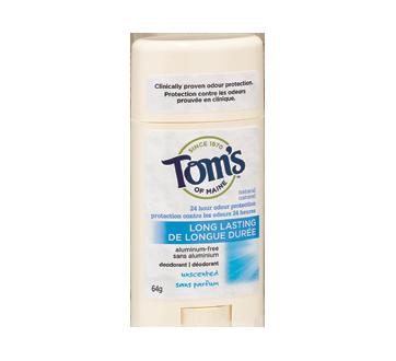 Long-Lasting Deodorant, 64 g, Fragrance Free