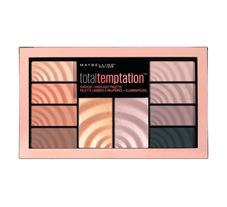 Total Temptation Eyeshadow + Highlight Palette , 12 g