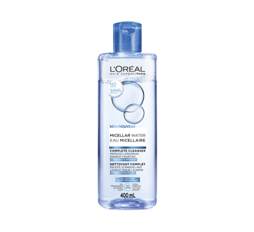 Micellar Water Waterproof Makeup Remover and Gentle Cleanser, 400 ml
