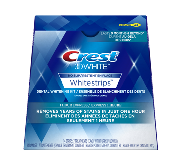 Image of product Crest - 3D White Whitestrips 1 Hour Express, 7 units