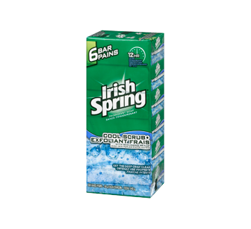 Image 4 of product Irish Spring - Cool Scrub Bar Soap, 6 x 90 g