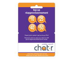 Image of product Incomm - $40 chatr wireless Prepaid Cell Cards