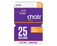 Image of product Incomm - $25 chatr wireless Prepaid Cell Cards