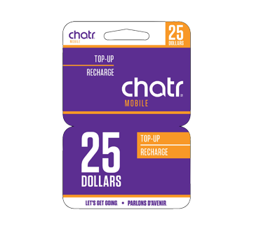 $25 Chat R Mobile Top-Up Card, 1 unit