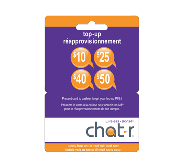 $10 Chat R Mobile Top-Up Card, 1 unit