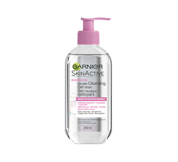 SkinActive Micellar Cleansing Gel Wash, 200 ml, Sensitive Skin