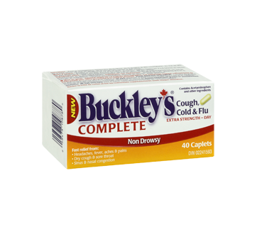 Image 2 of product Buckley - Complete Cough, Cold & Flu Extra Strength Daytime Formula, 40 units
