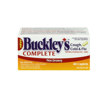 Image 3 of product Buckley - Complete Cough, Cold & Flu Extra Strength Daytime Formula, 40 units