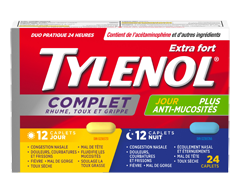 Image of product Tylenol - Tylenol Complete Cold, Cough & Flu Extra Strength Daytime/Nighttime Formula, 24 units