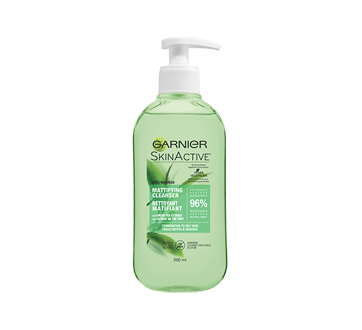 SkinActive Mattifying Cleanser, 200 ml, Combination to Oily Skin