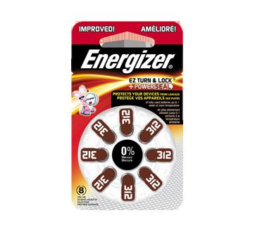 Hearing Aid Batteries, 8 units, AZ312DP8
