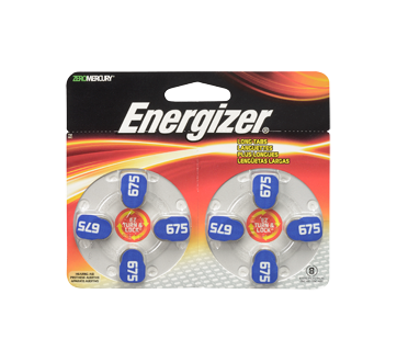 Hearing Aid Batteries, 8 units, AZ675DP8