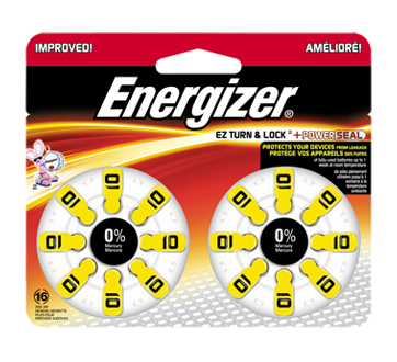 Image of product Energizer - Hearing Aid Batteries, 16 units, AZ10DP16
