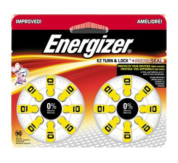 Hearing Aid Batteries, 16 units, AZ10DP16