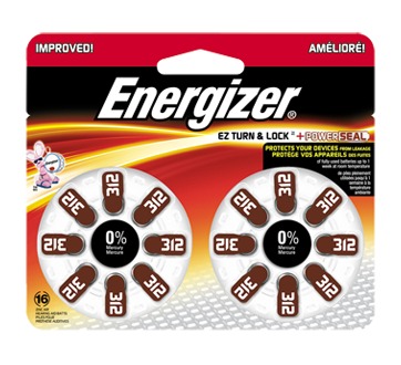 Image of product Energizer - Hearing Aid Batteries, 16 units, AZ312DP16