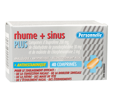 Image of product Personnelle - Cold & Sinus Plus Ibuprofen Tablets, 40 units