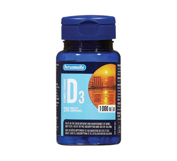 Image of product Personnelle - Vitamin D3 1000 ui, 250 units