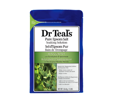 Pure Epsom Salt Soaking Solution Relax & Relief, 1.36 kg, Eucalyptus and spearmint
