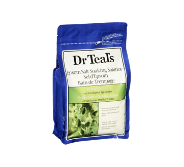 Image 2 of product Dr Teal's - Pure Epsom Salt Soaking Solution Relax & Relief, 1.36 kg, Eucalyptus and spearmint