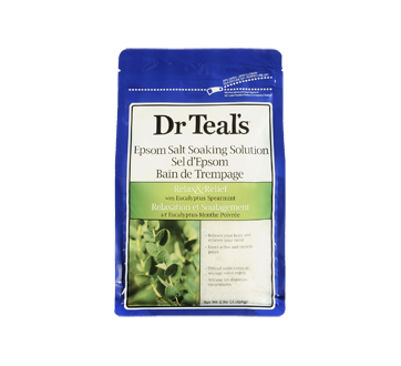 Image 3 of product Dr Teal's - Pure Epsom Salt Soaking Solution Relax & Relief, 1.36 kg, Eucalyptus and spearmint