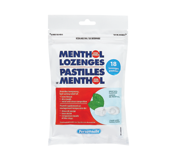 Image of product Personnelle - Menthol Lozenges, Extra Stenght, 18 units, Menthol