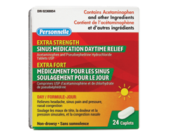 Image of product Personnelle - Sinus Medication Daytime Relief Extra Strength, 24 caplets