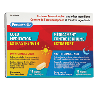 Cold Medication Extra Strength, 12 + 12 units