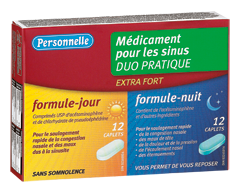 Image of product Personnelle - Sinus Medication Extra Strength, Daytime and Nighttime, 12+12 units